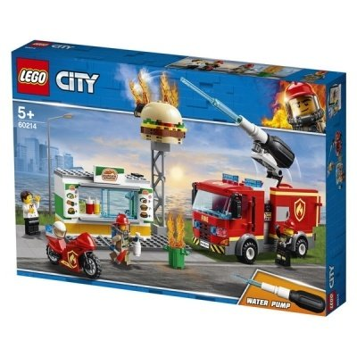 Конструктор LEGO CITY Fire Пожар в бургер-кафе
